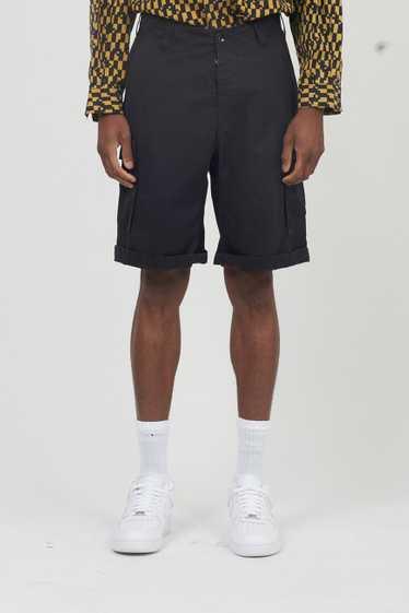 Vintage 90's Black Armani Jeans Cargo Shorts