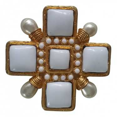 Chanel Gripoix White Gold plated Pins & brooches f