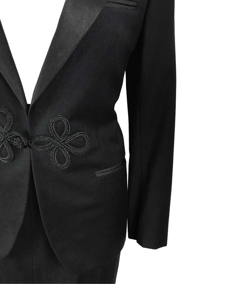 Gucci 1970s Black Smoking Two Piece Suit - image 6