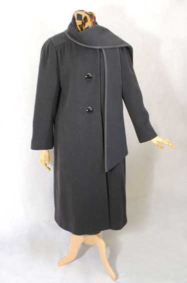 Trigère wool coat , 1970s