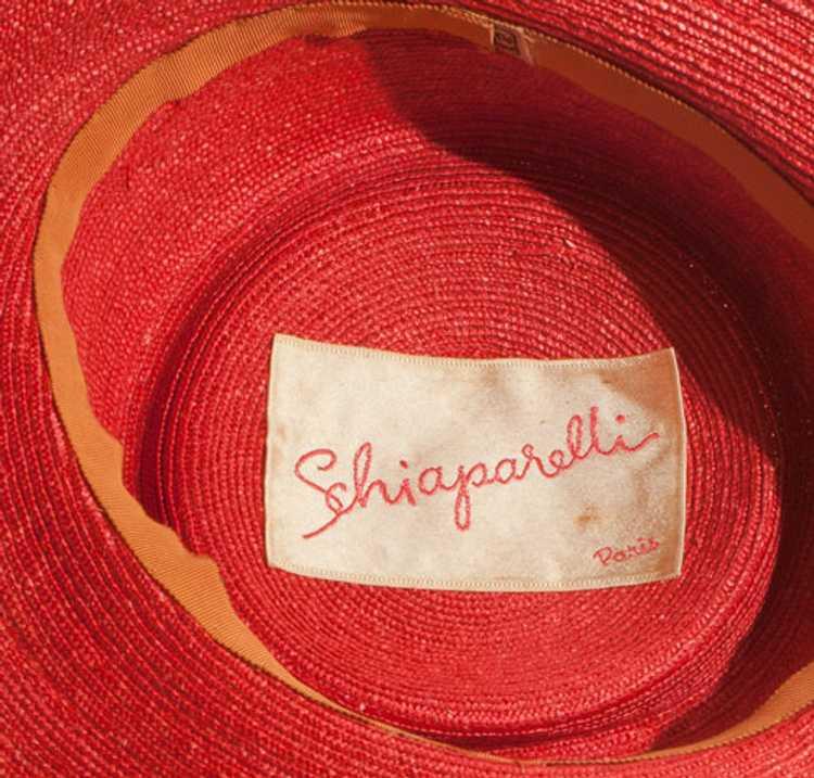 1960s Elsa Schiaparelli Straw Hat - image 3