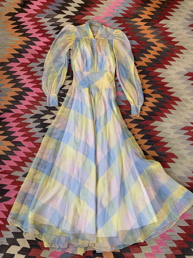 RARE 1940s Ceil Chapman Gown - image 11