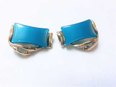1950's Turquoise, Teal, Unsigned Rectangular Cabac