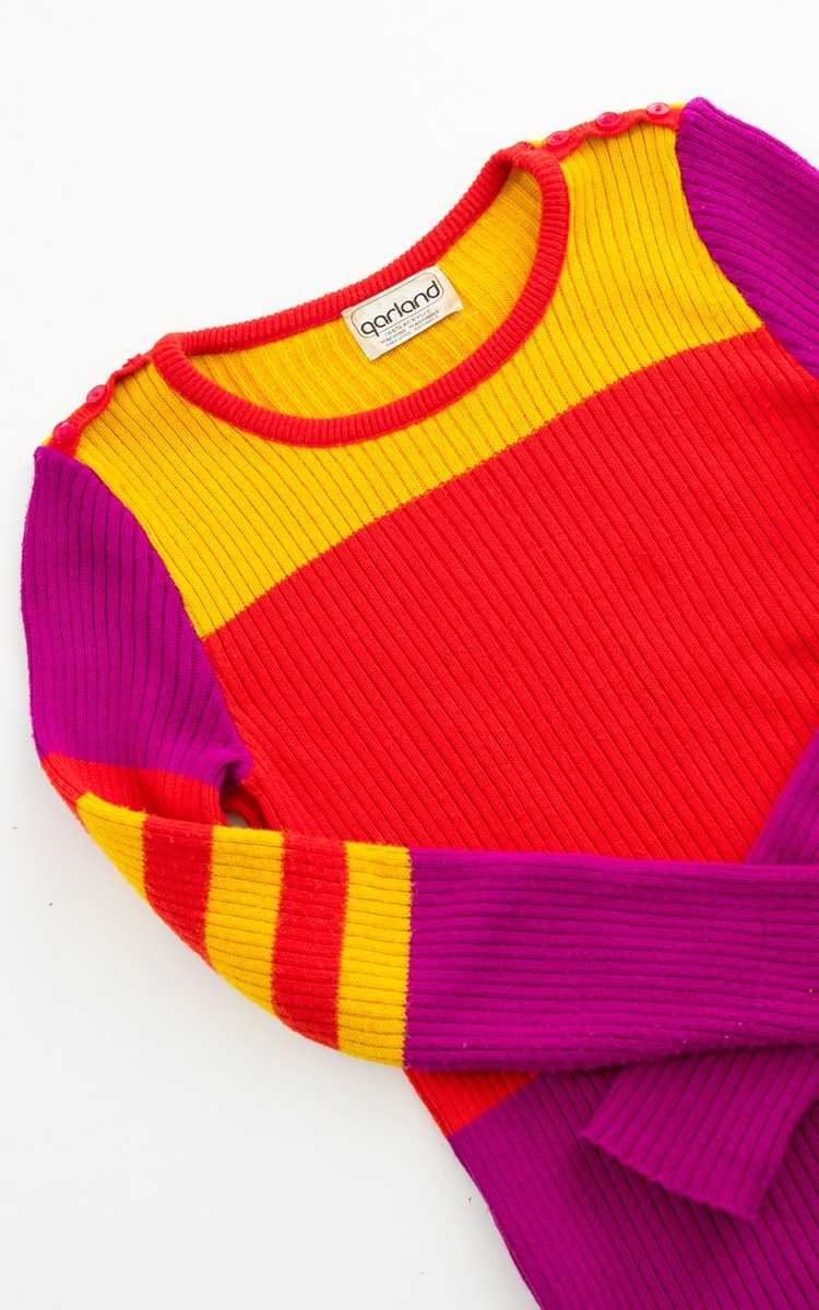 NEW ARRIVAL || 1970s Color Block Knit Sweater | x… - image 6