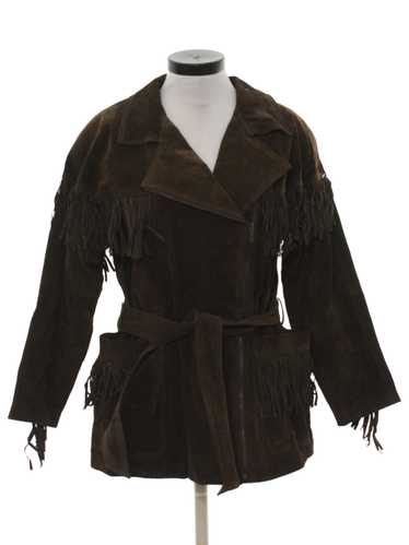 1980's Bagatelle Womens Suede Fringed Leather Jack