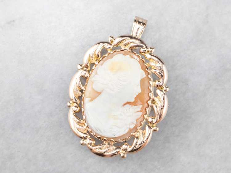 Mid Century Cameo Pendant or Pin - image 3