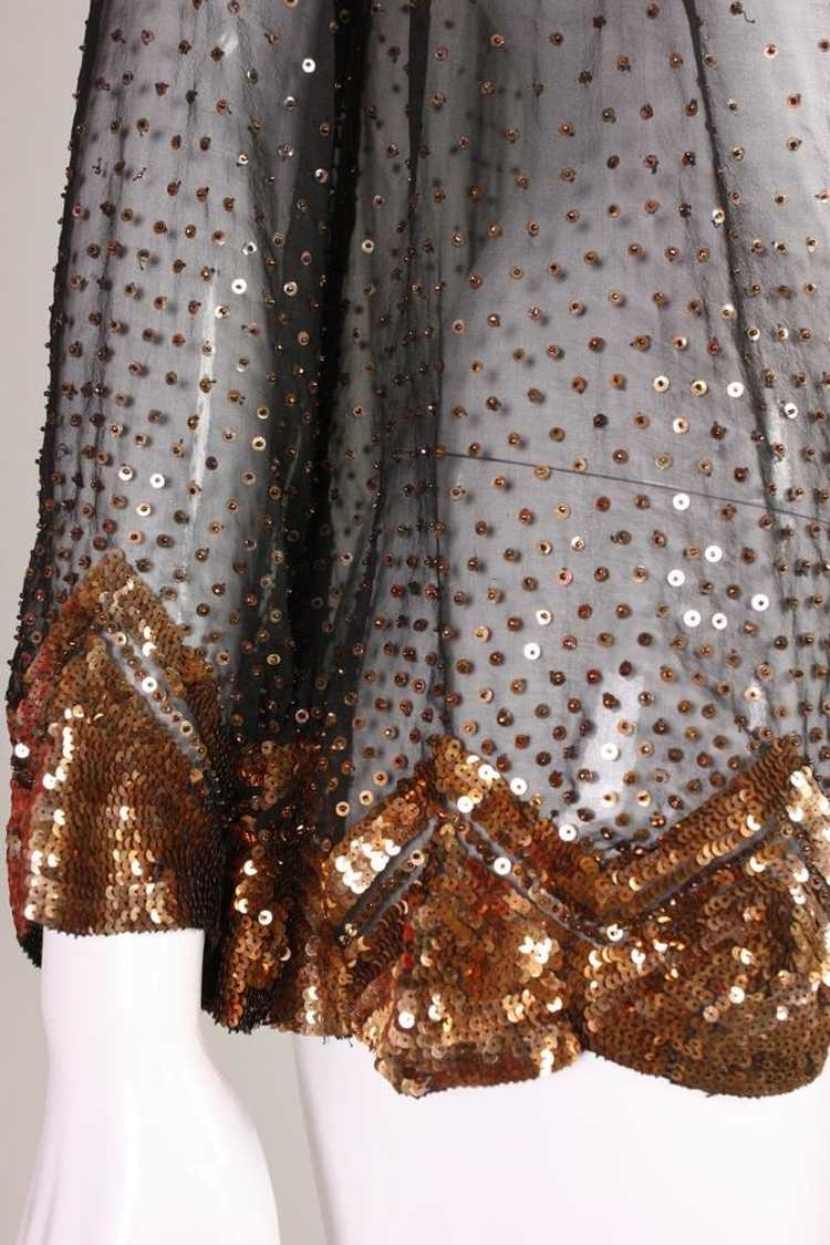 1930's Jacket Sequined Silk Chiffon Vintage - image 6