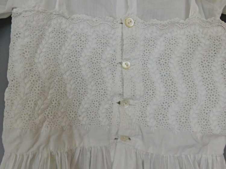 Antique Edwardian Little Girl Dress, Embroidered … - image 11