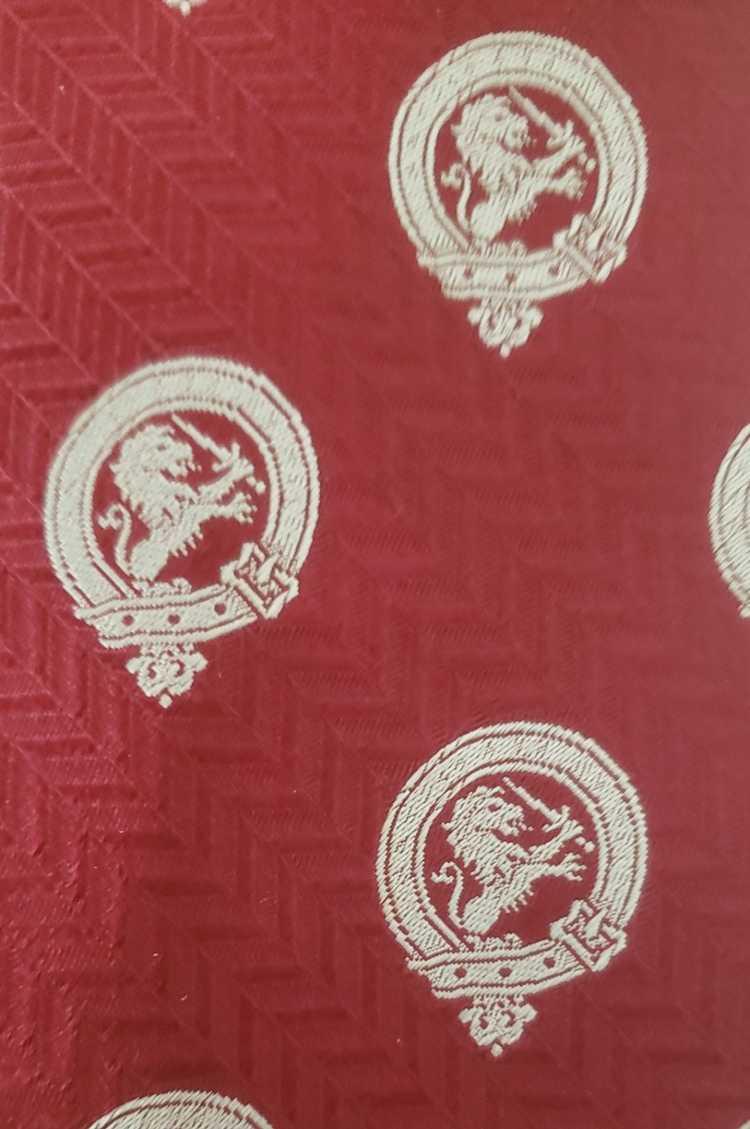 Lanvin Lanvin silk neck tie 1970s red white lions - image 4