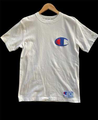 Vintage Original 90s Champion Clothing Big Logo Designs T-Shirt M Gray