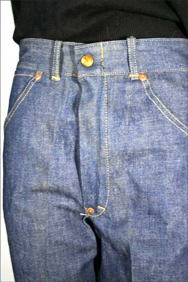 1930s Denim Ranch Pants - image 4