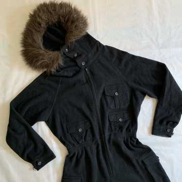 1990s Yohji Yamamoto Fur Hooded Boiler Suit - Size