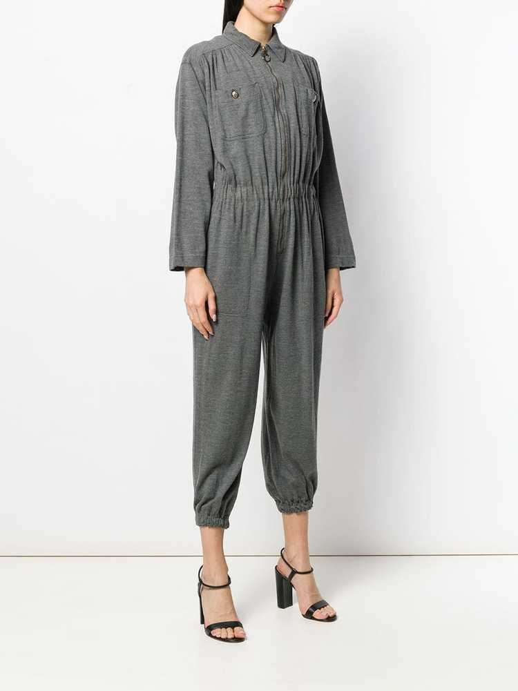 Moschino Pre-Owned 1990's utility jumpsuit - Grey - image 3