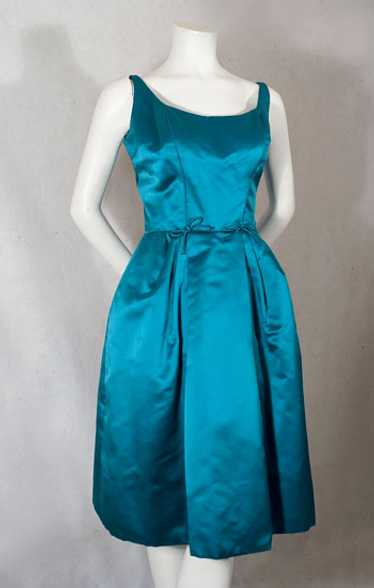 Mollie Parnis satin two piece dress, 1950s