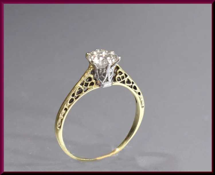 Victorian Diamond Engagement Ring - image 7