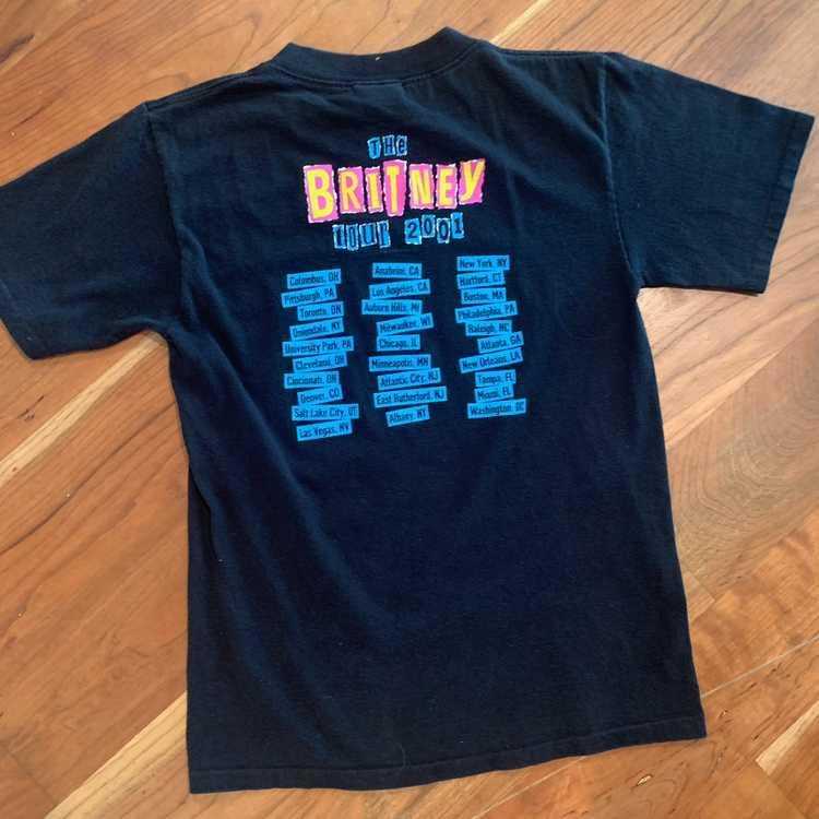2001 Briney Spears BRITNEY Tour Tshirt sz S - image 3