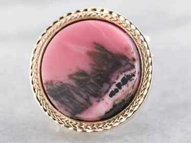 Vintage Rhodonite Brooch or Pendant