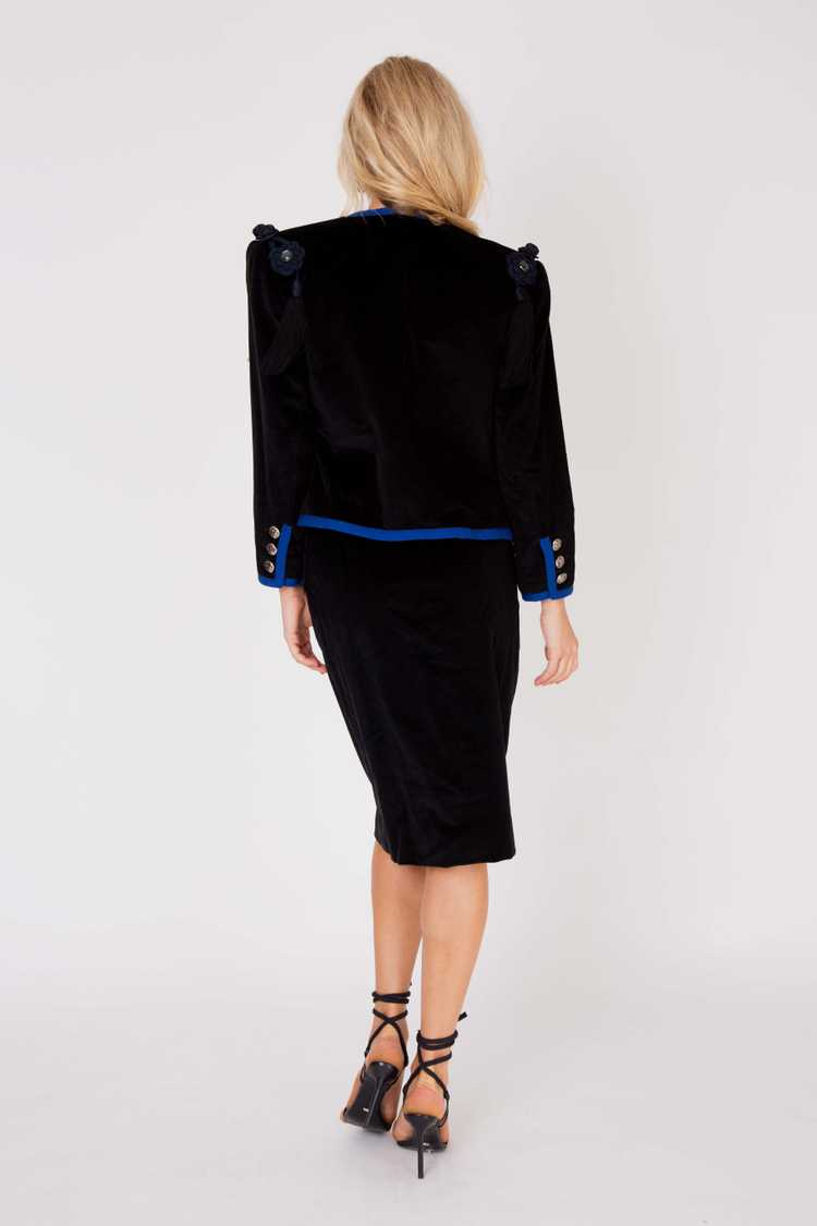 Yves Saint Laurent1986/7 corduroy tasseled should… - image 4