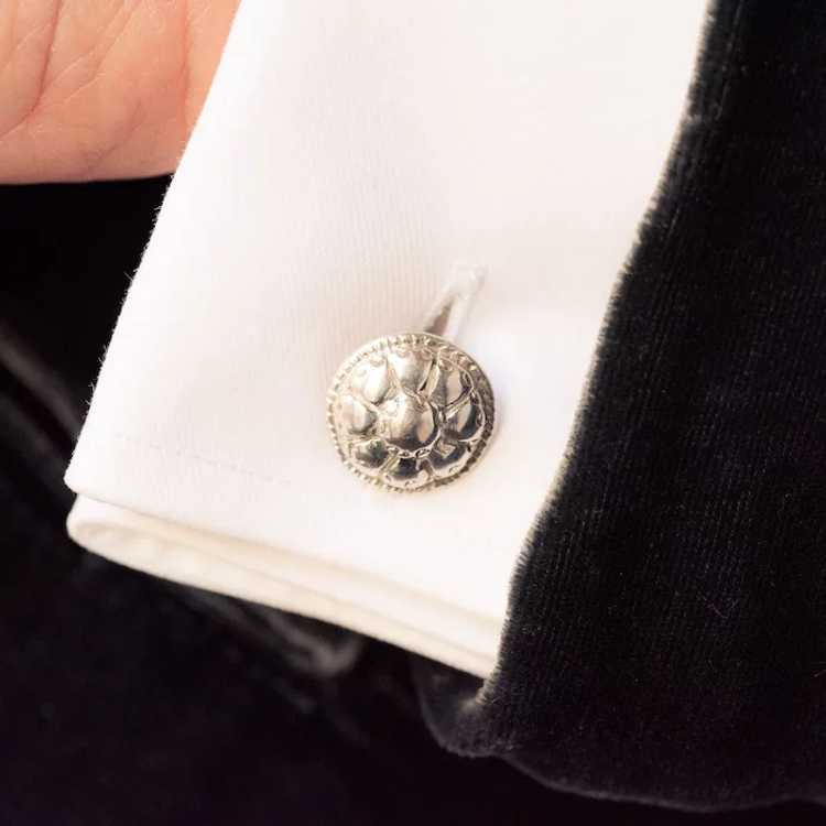 French 18th Century Sterling Silver Cufflinks - image 4