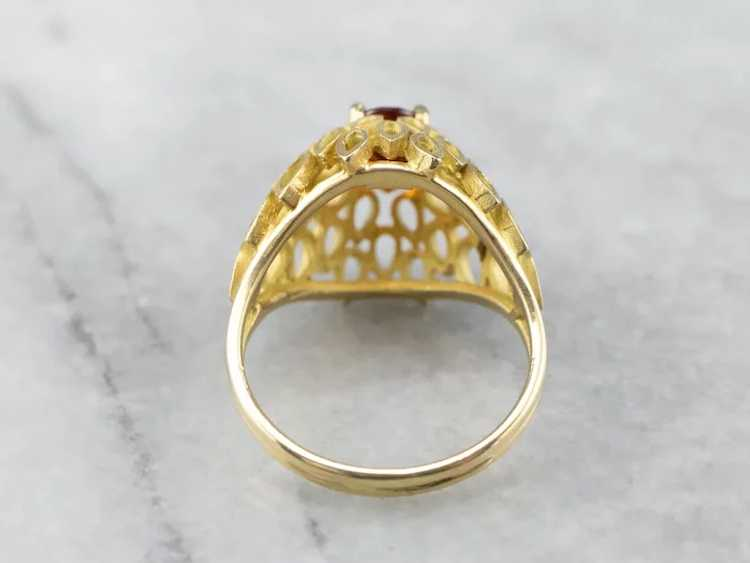 Funky Citrine Statement Ring - image 5