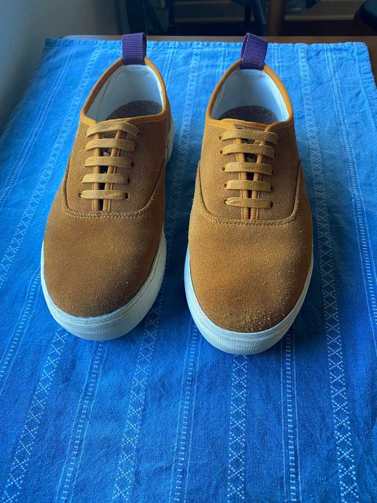 Eytys Eytys Mother Suede Camel Sneakers - image 2