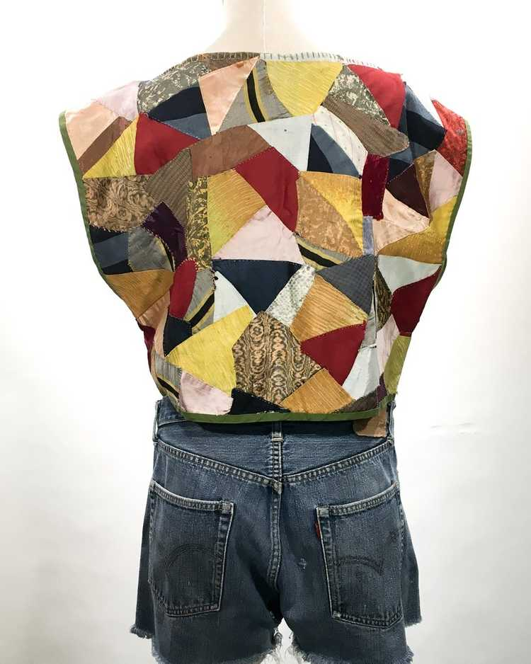 Handmade Crop Top from 1940s Quilt - image 2