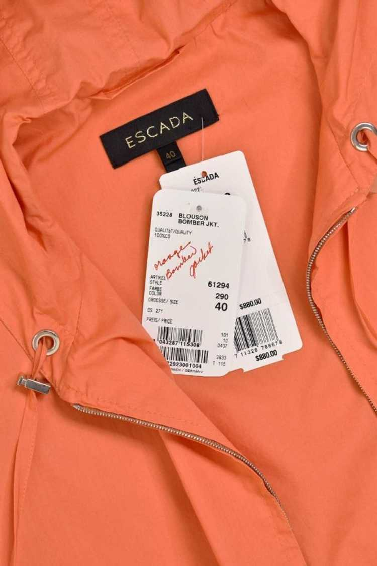 Escada Orange Bomber Zip Hooded Jacket - image 8