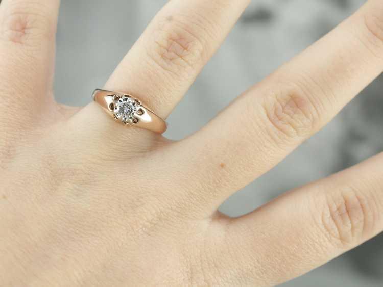 Diamond Solitaire Ring - image 4