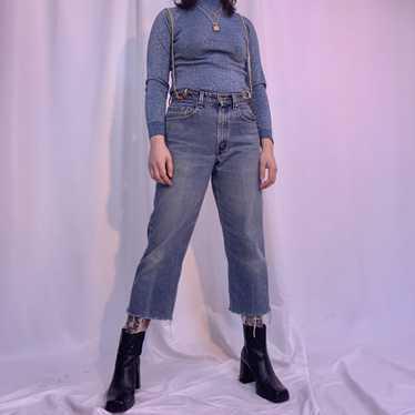 Suspender chain jeans