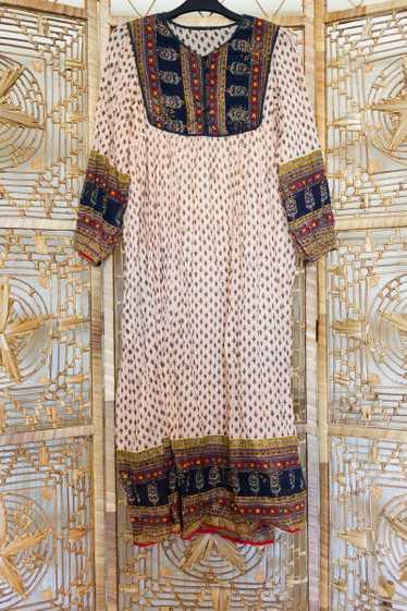 Indian Contrast Maxi Dress