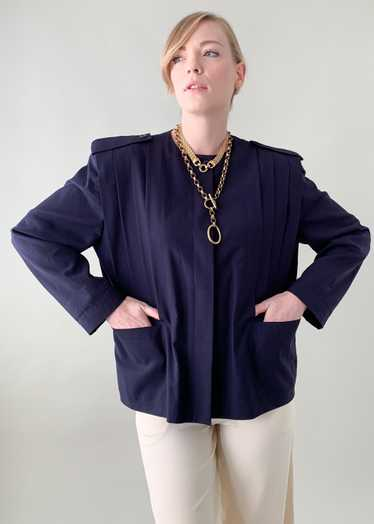 Vintage 1980s Ted Lapidus Pleated Jacket