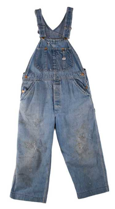 Distressed Lee Jelt Denim Overalls