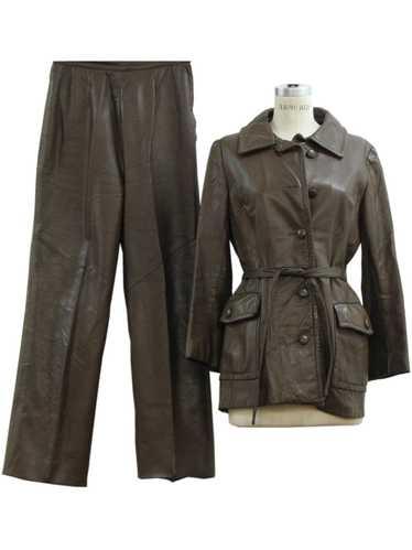 1970's Womens Leather Pants set.