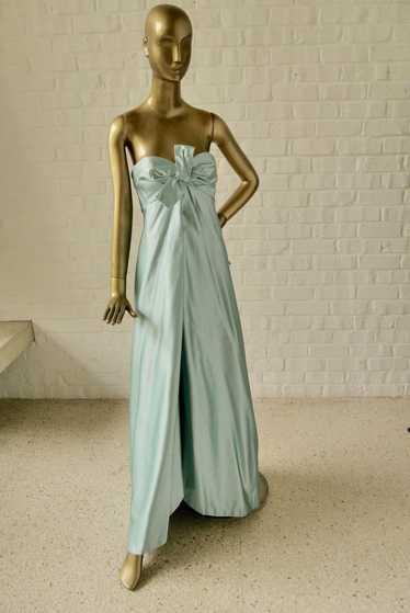 Sarmi New York couture gown strapless. Nan Duskin