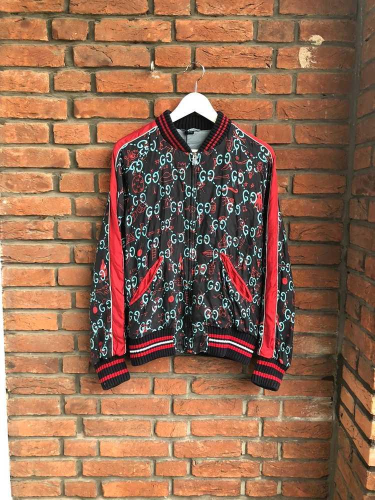 Gucci Gucci Ghost Silk Bomber - image 2