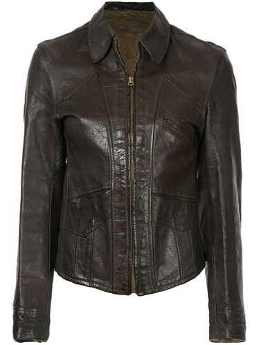 Fake Alpha Vintage 1940s Good Design leather jacke