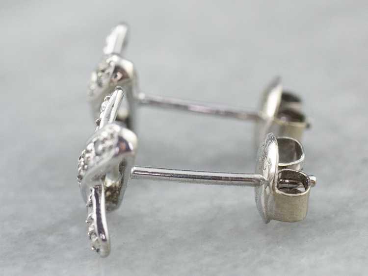 Diamond X Stud Earrings - image 5