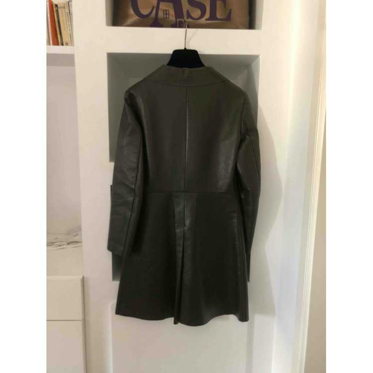 Celine Green Leather Leather jacket for Women 38 … - image 2