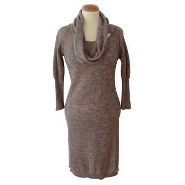 Humanoid Knit dress with shawl collar