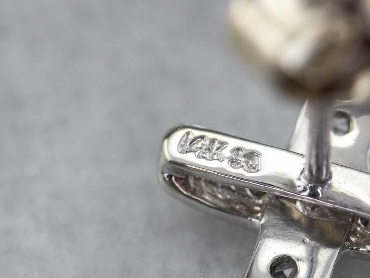 Diamond X Stud Earrings - image 7
