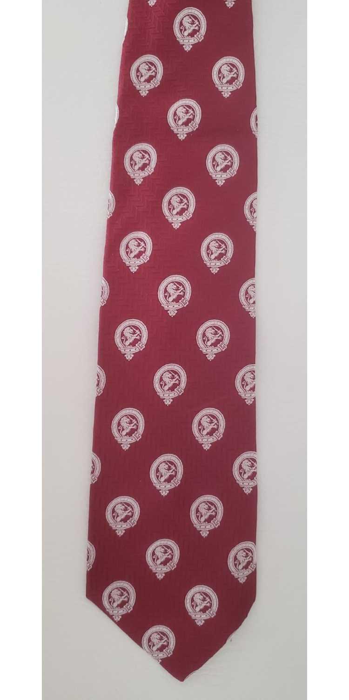 Lanvin Lanvin silk neck tie 1970s red white lions - image 3
