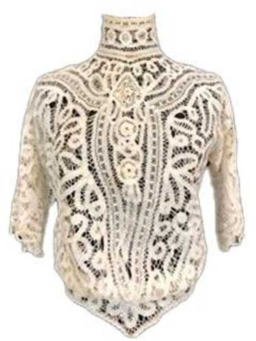Edwardian Battenburg Lace Blouse