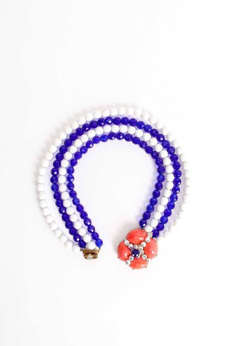 ARNOLD SCAASI Multi-Strand Cabochon Bead Collar - image 5