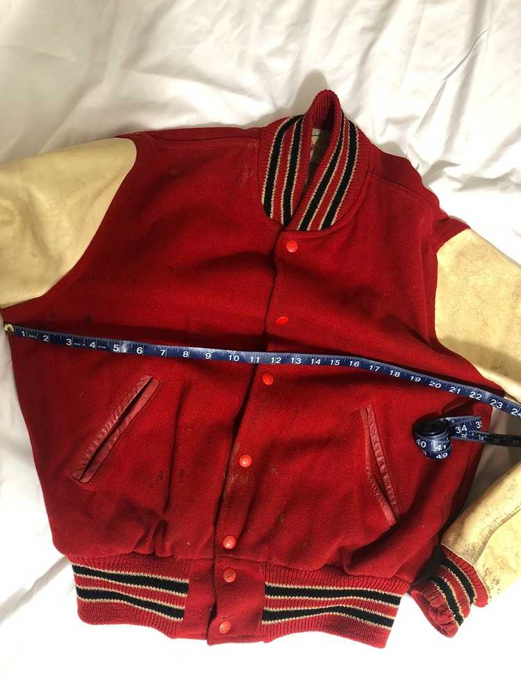 Vintage 60s Red Varsity Jacket - image 3