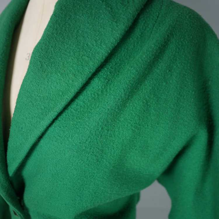 50s GREEN WOOL CROPPED BOLERO JACKET - M-L - image 8