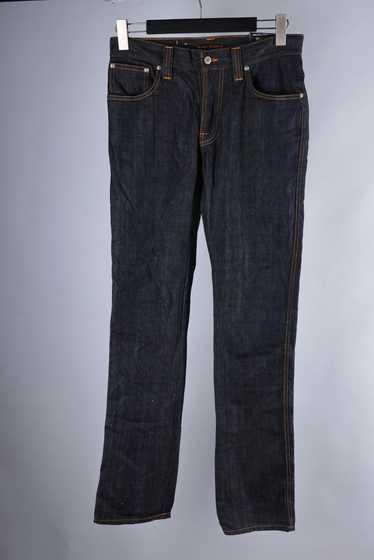 Slim Jim Metal Inc. Nudie Mens Regular Slim Fit Dirty Look Jeans