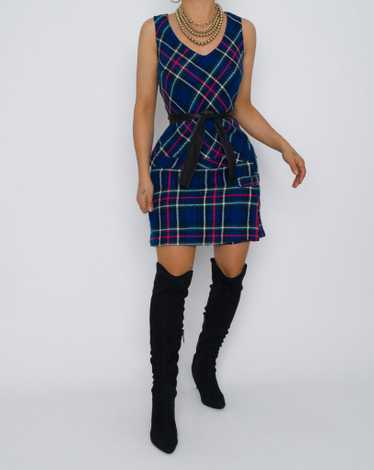 Vintage Tartan 60's Skort Dress