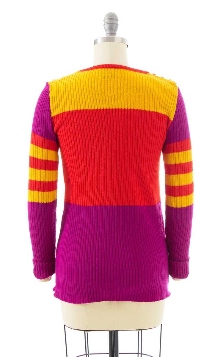 NEW ARRIVAL || 1970s Color Block Knit Sweater | x… - image 4