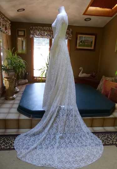 Rare 1940's Bridal Ensemble: Ivory Lace Long Sleev