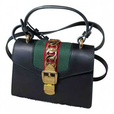 Gucci Sylvie Black Leather handbag for Women